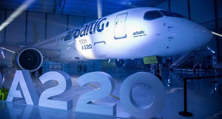 Airbus celebrates 100th A220 aircraft milestone