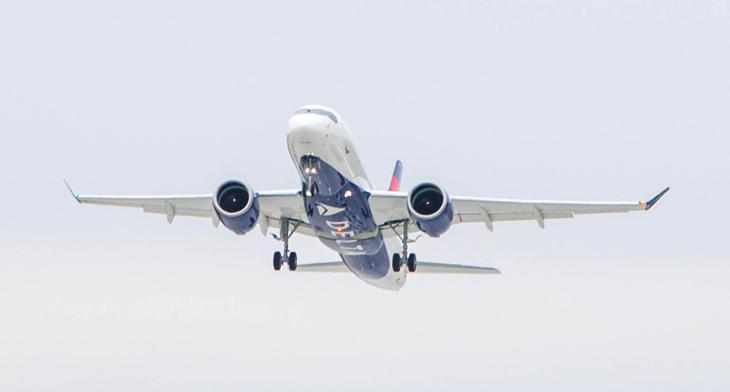 Delta's first A220-100 airborne