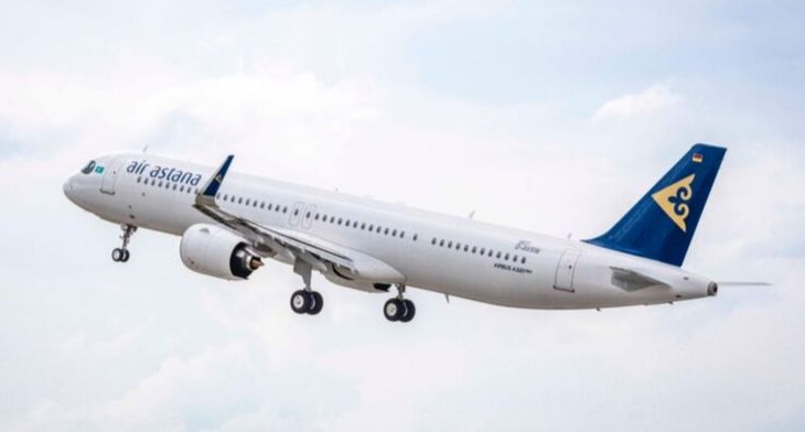 Air Astana takes delivery of its first Airbus..