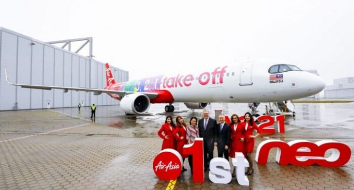 AirAsia accepts its first Airbus A321neo