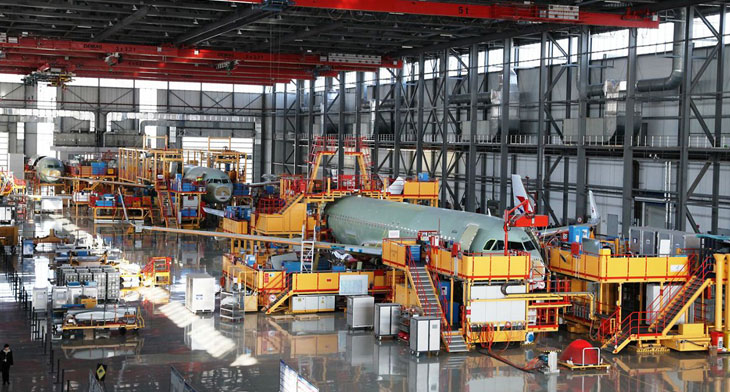 Airbus ramps up Tianjin A320 production