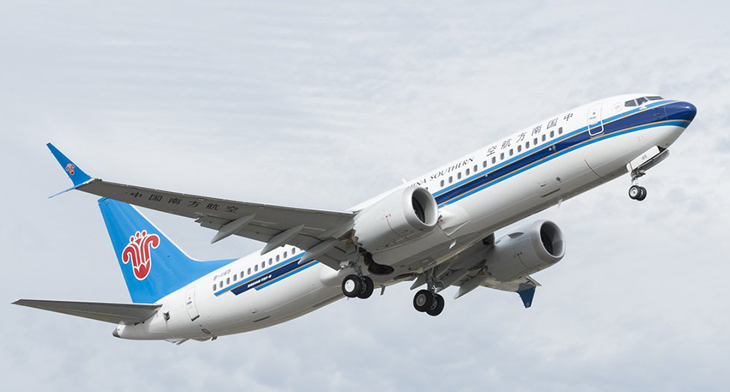 AerCap receives China Southern's first B737 MAX