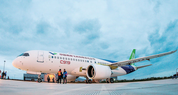 No rush for China's Comac C919