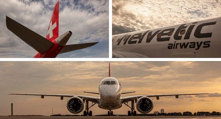 Embraer Helvetic airways delivery