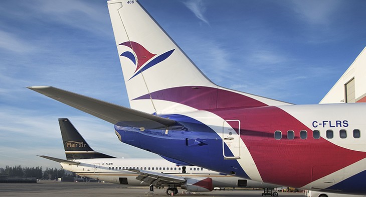 Flair Airlines prepares for fleet transition