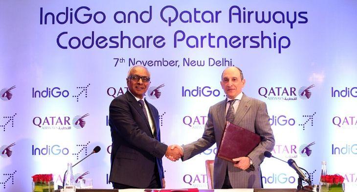 IndiGo and Qatar Airways sign one-way codesha..