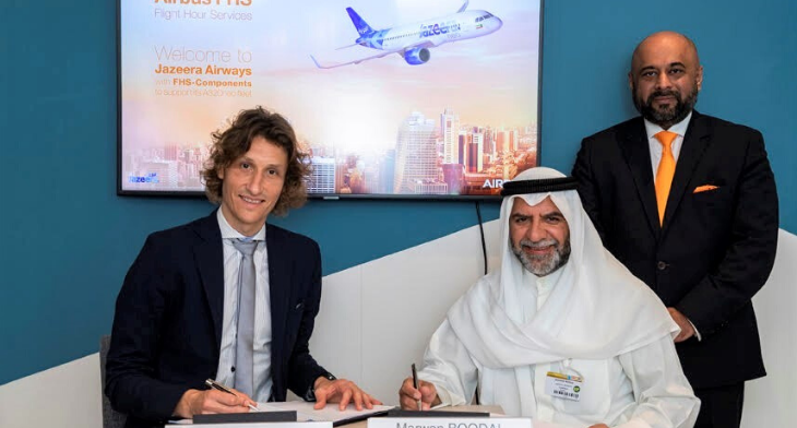 Jazeera Airways signs with Airbus for Flight Hour Services