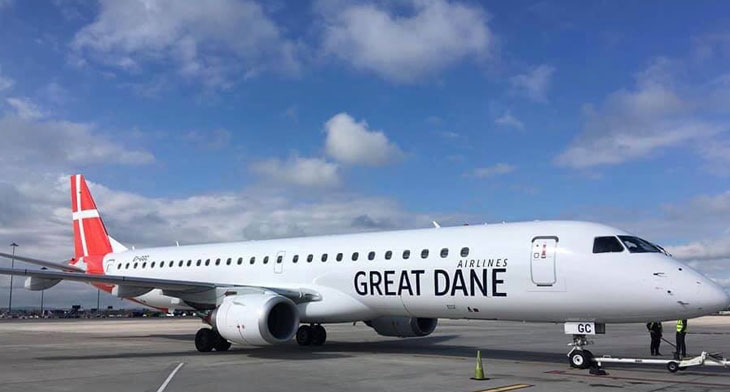Great Dane Airlines unveils E195
