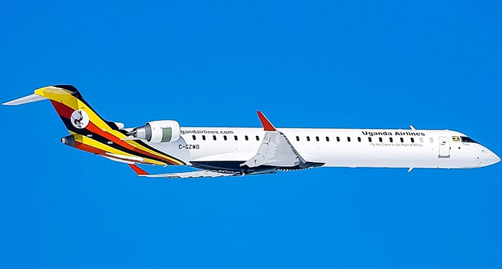 Bombardier delivers first CRJ900 to Uganda Airlines