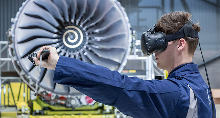 VR being used to train Rolls-Royce engineers