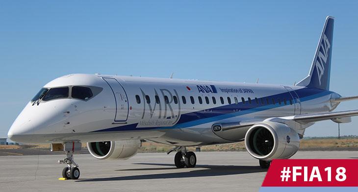 MRJ90 in debut airshow flight