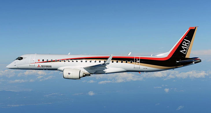 Mitsubishi's tests go well with their MRJ.
