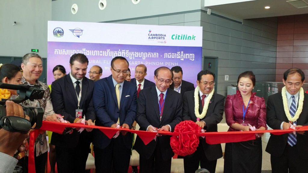 Citilink inaugural flight Jakarta to Phnom Penh