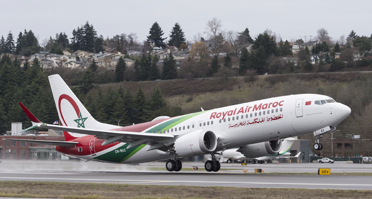 First MAX 8 for Royal Air Maroc