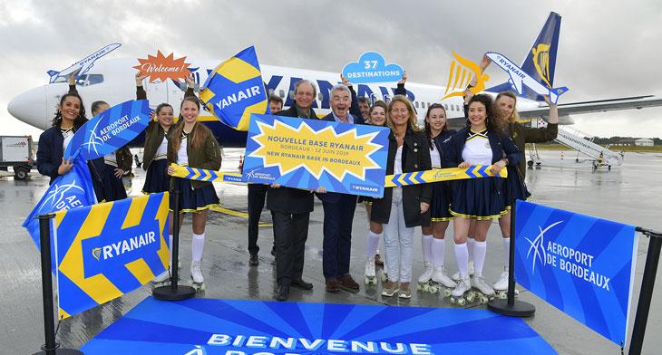 Ryanair opens Bordeaux base