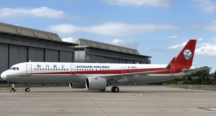 Sichuan receives latest A321neo from BOC Aviation