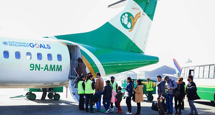 Yeti Airlines celebrates carbon neutral miles..