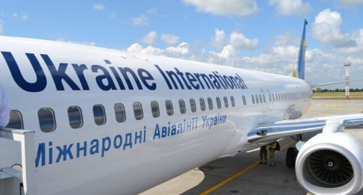 Ukraine International Airlines 737-800 shot d..