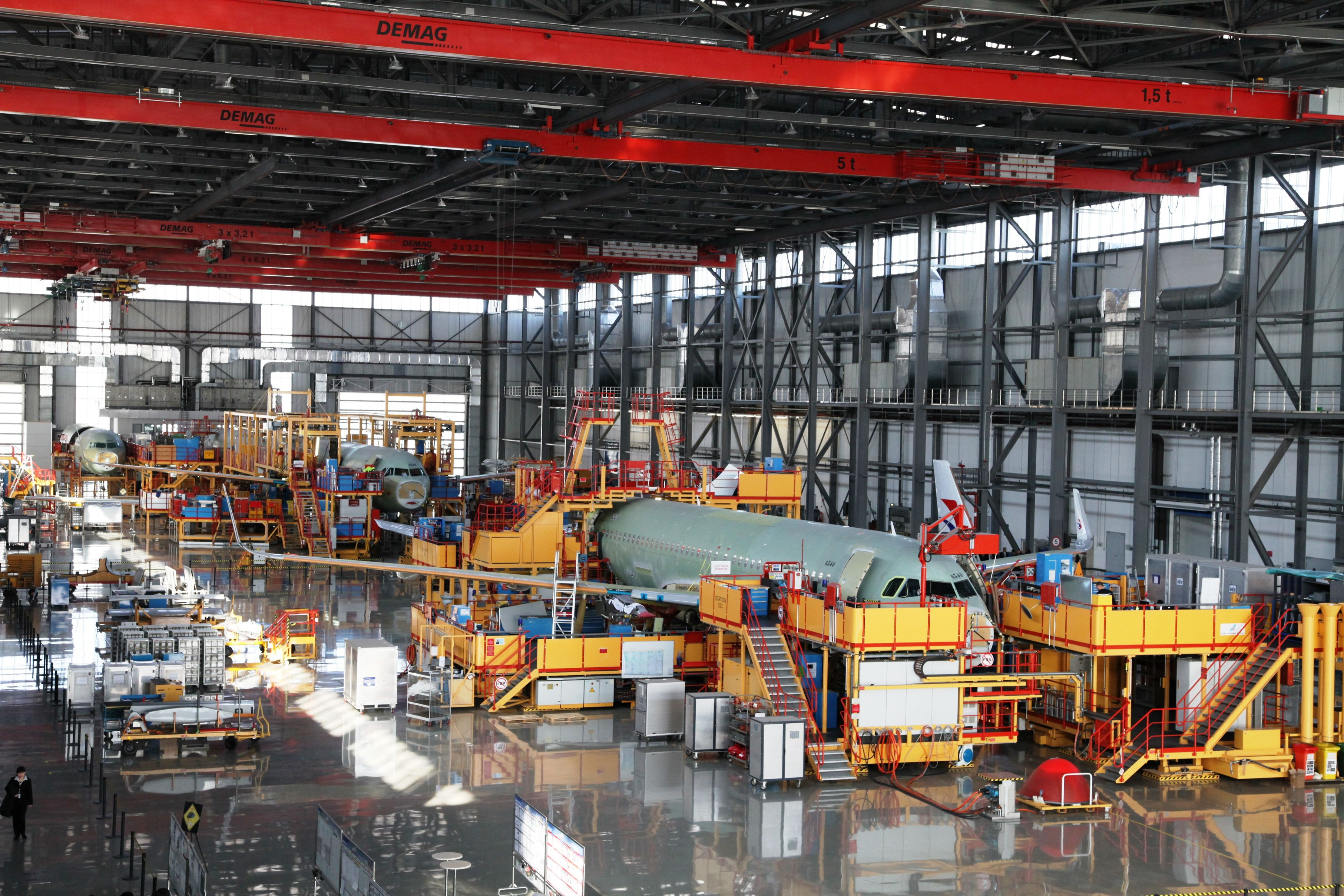 China's A320 assembly line suspends work