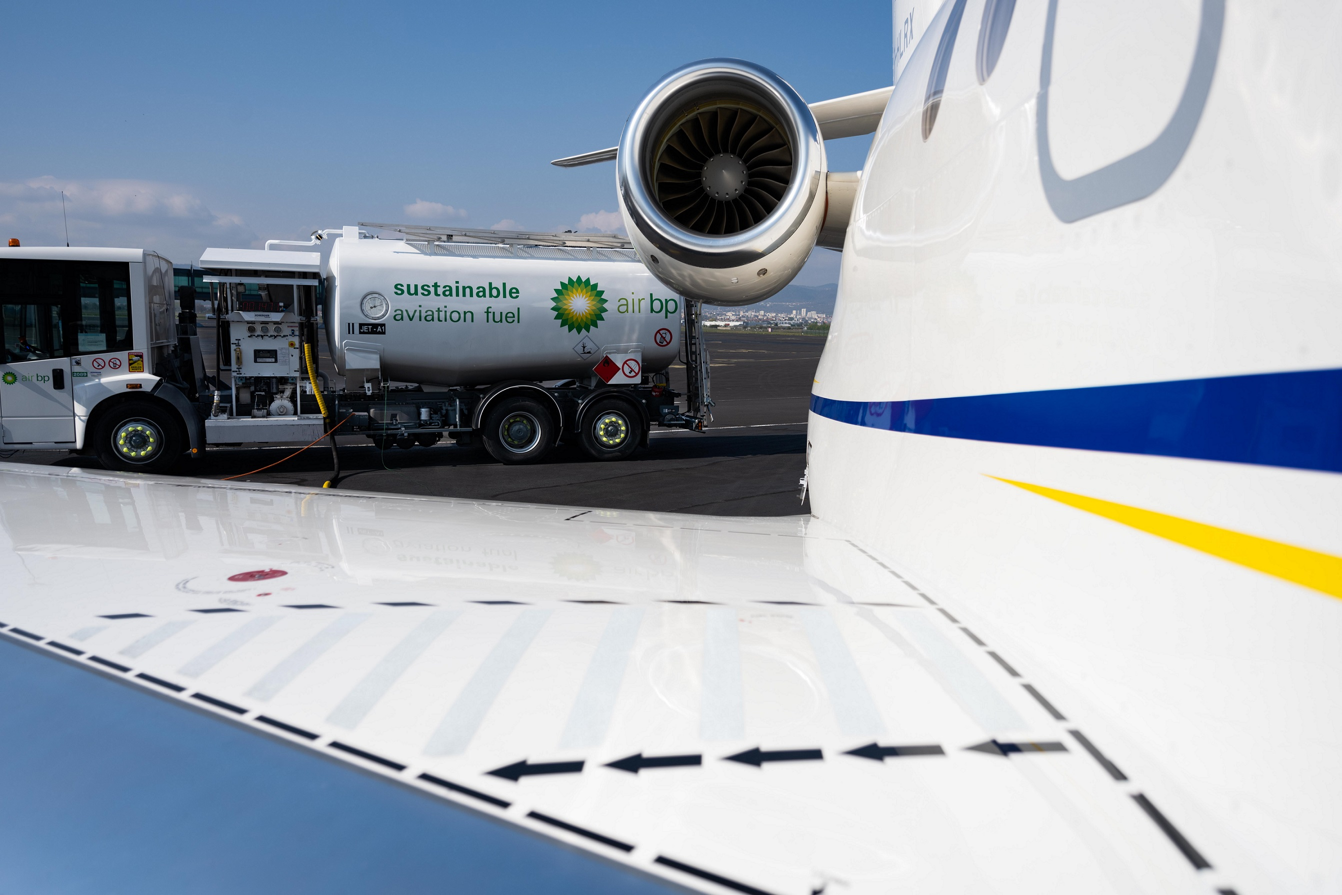 Air bp's sustainable aviation fuel takes off at France's Clermont Ferrand Airport