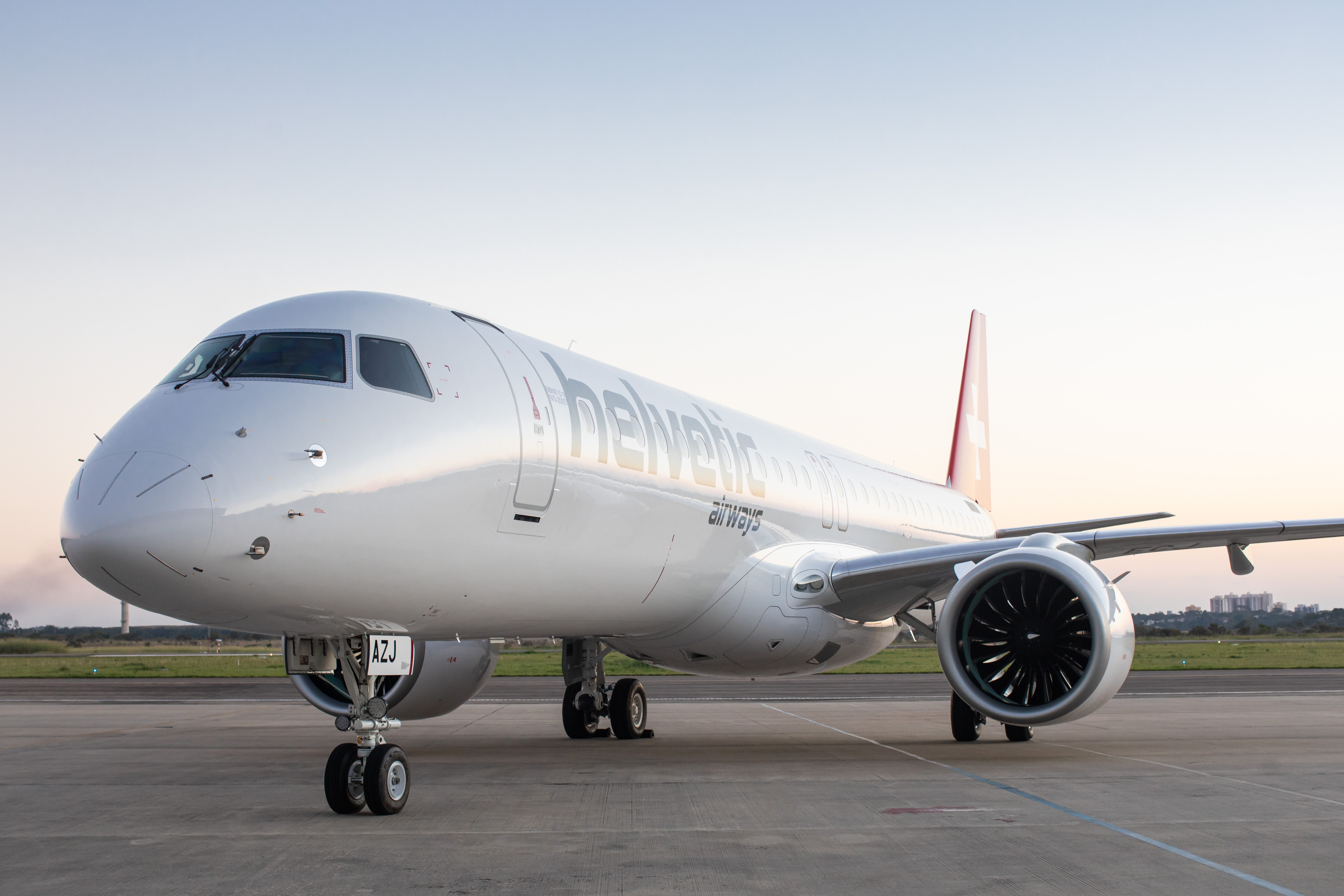 Helvetic Airways welcomes its first Embraer E195-E2