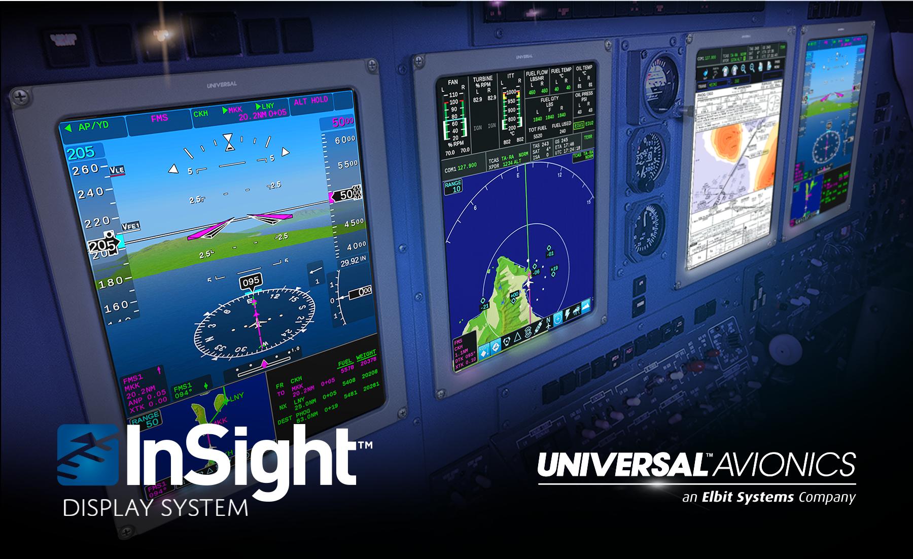 Universal Avionics sees strong year for InSightTM integrated flight deck upgrades